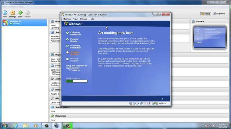 Oracle VirtualBox Windows XP